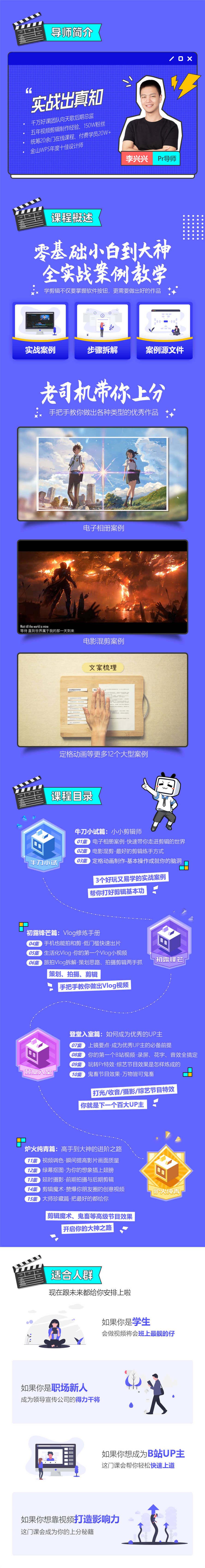 李兴兴PR剪辑实战案例攻略15课